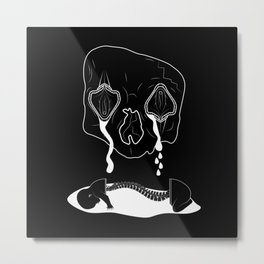 Death Head Sex Head - Bouncing Baby Boy Metal Print