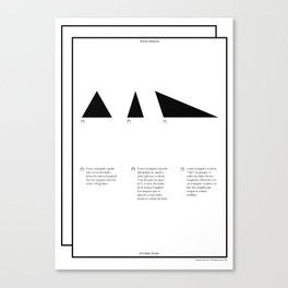 Geometric - Triángulos . (Spanish) Canvas Print