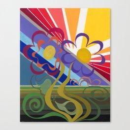 Flower Horizon Canvas Print