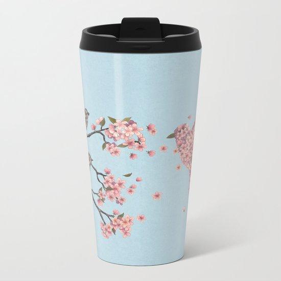 Blossom Bird  Metal Travel Mug