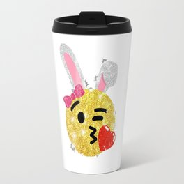 Easter Bunny Emoji Shirt Travel Mug