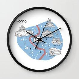 Mapping Roma - Original Wall Clock
