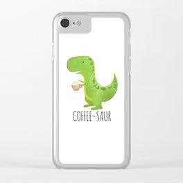 Coffee-saur Clear iPhone Case