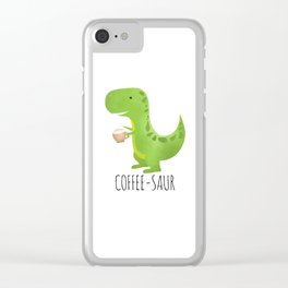 Coffee-saur Clear iPhone Case
