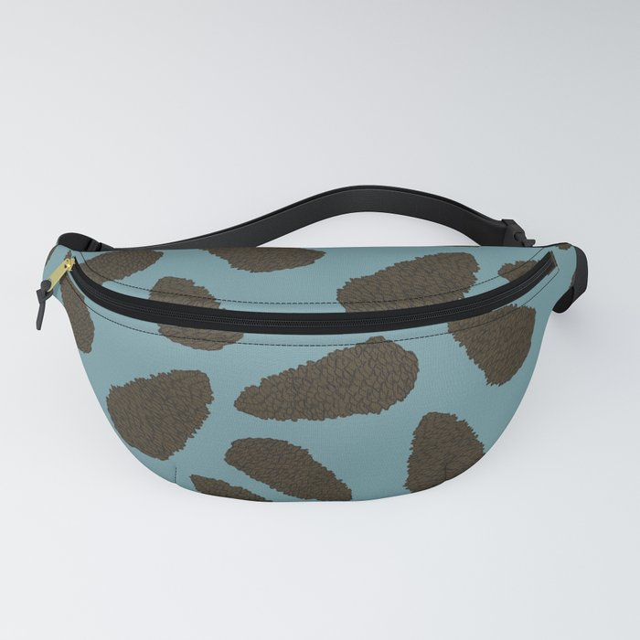 Tree Patterns: Teal Pinecones Fanny Pack