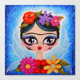 Little Fairy Flowery Frida Canvas Print