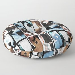 Domestic Abstract Floor Pillow