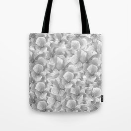 Elegant gray white hand painted watercolor floral Tote Bag