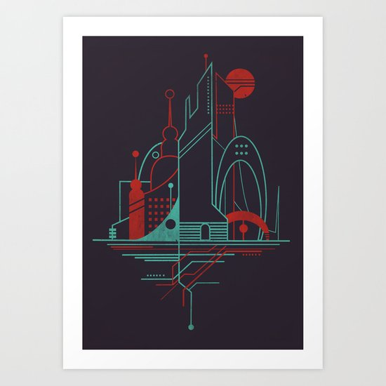 From the Subway to the Sky (at Night) Art Print