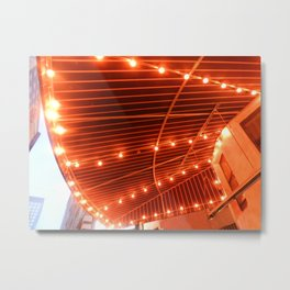 String of lights in Chicago Metal Print