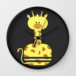 Happy Giraffe Wall Clock