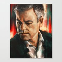 greg guillemin Canvas Prints featuring Greg Lestrade by Alice X. Zhang