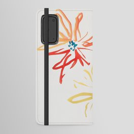 Gestural Blooms Android Wallet Case
