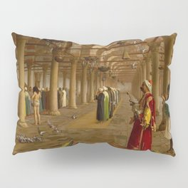 Islamic Masterpiece 'Prayer in the Mosque' by Jéan Leon Gerome Pillow Sham