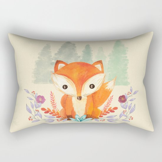 Evergreen Fox Rectangular Pillow