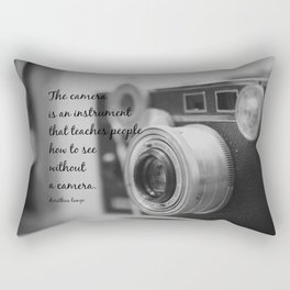 Vintage Camera Quote Rectangular Pillow