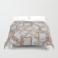 cookie monster Duvet Covers featuring Cookie by Kris alan apparel