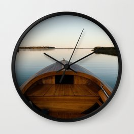Summer Mornings On The Lake Wall Clock