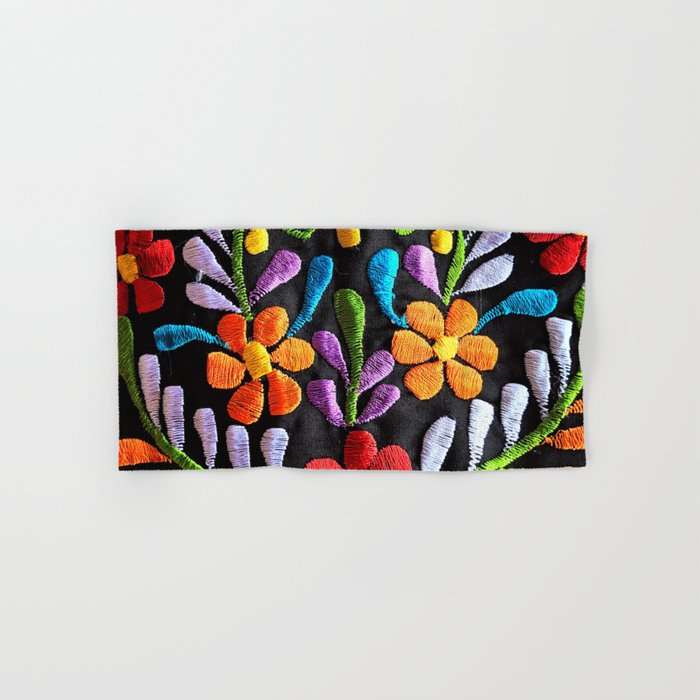 Mexican Flowers Hand & Bath Towel