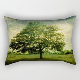The Textured Tree  Rectangular Pillow