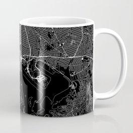 Queens Black Map Coffee Mug
