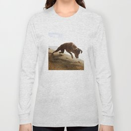Dogs with the game face on .45 Long Sleeve T-shirt