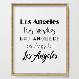 Los Angeles City Quote Sign, Digital Download, Calligraphy Text Art, Large Printable Photography Serving Tray