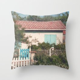 Cottage across the Road Throw Pillow