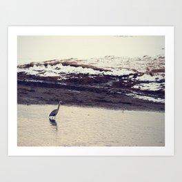 Heron Blue: The Great Art Print