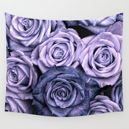 PURPLE ROSES floral flowers violet Wall Tapestry