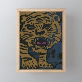 Golden Tiger Framed Mini Art Print