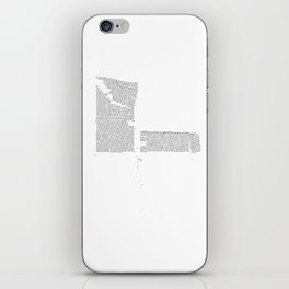 Erosion & Typography 4 iPhone Skin