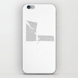 Erosion & Typography 4 iPhone Skin