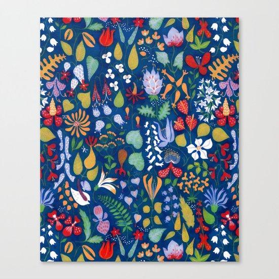 Colorful botanical pattern Canvas Print