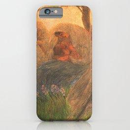 Maternità - Motherhood Angel Pastoral by Gaetano Previati iPhone Case