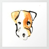 jack russell Art Prints featuring Jack Russell by Jen Moules