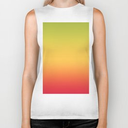 Tropical Colorful Gradient Pattern Biker Tank