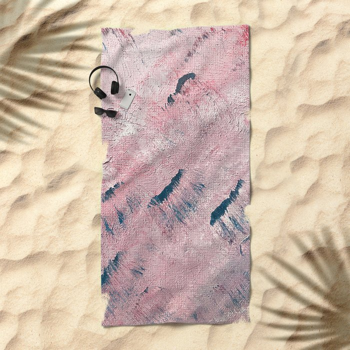 sunset waves Beach Towel