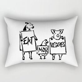 eat mor veggies Rectangular Pillow