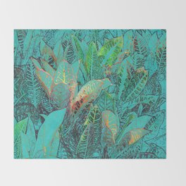 TROPICAL TURQUOISE Throw Blanket