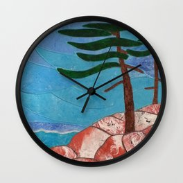 Formed by the Elements Wall Clock