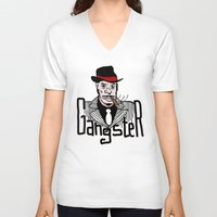 gangster V-neck T-shirts featuring Gangster by Logan_J
