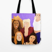 girl power Tote Bags featuring Girl Power by Jara Montez