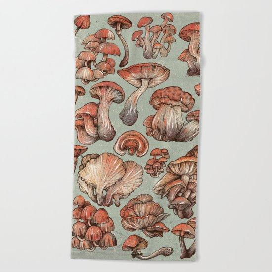 A Series of Mushrooms Beach Towel