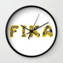 Fika- Folk style Wall Clock