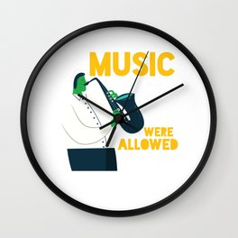 Cool Comic Saxo Player - Music Enthusiast Wall Clock