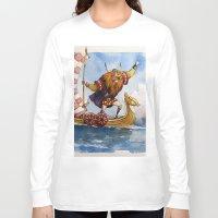 viking Long Sleeve T-shirts featuring Viking by Jose Luis Ocana