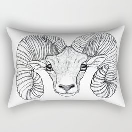 Ram Head Rectangular Pillow