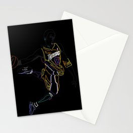 Neon Los Angles Basketball Legend Stationery Cards