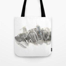 Black and White landscape, digital Tote Bag